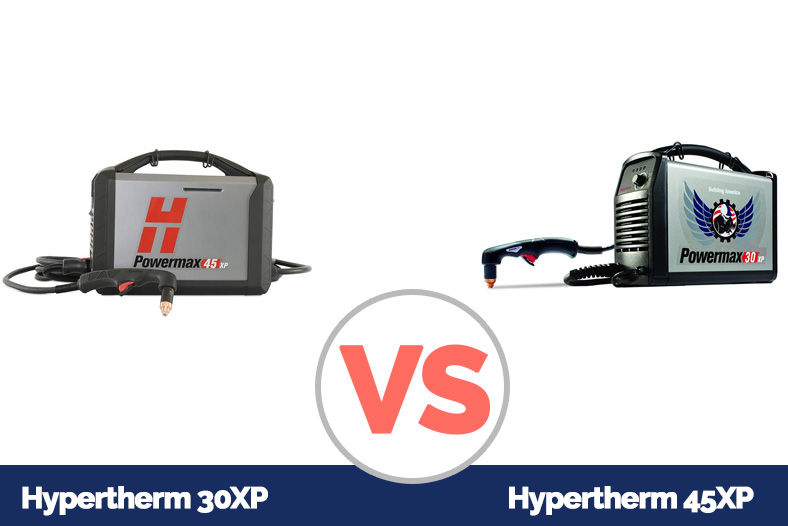 A photo showing Hypertherm 45XP and Hypertherm 30XP