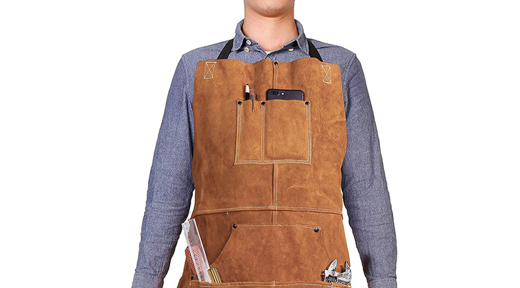 a man Wearing a work Apron