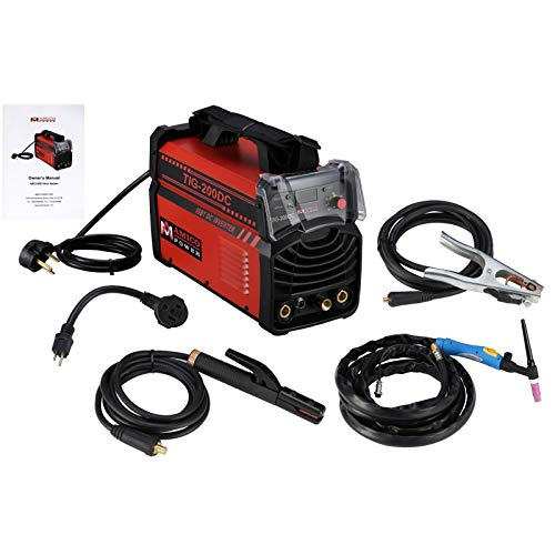 200 Amp TIG Torch/Arc/Stick DC Inverter Welder Dual Voltage IGBT Welding