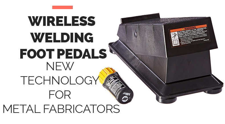 Wireless welding Foot Pedals new Technology for Metal Fabricators